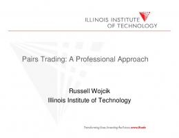 Pairs Trading: A Professional Approach - Futures Industry Association