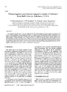 Palaeomagnetic and mineral magnetic studies of ...