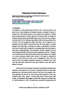Palestinian Family Businesses - Papers.ssrn.com