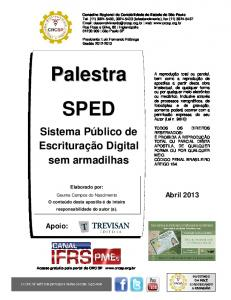 Palestra SPED - Crc - SP