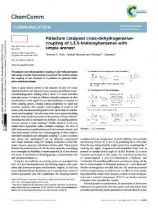 Palladium catalysed cross-dehydrogenative ...