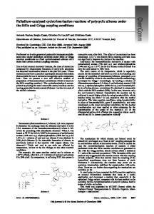 Palladium-catalysed cyclotrimerisation reactions of polycyclic alkenes