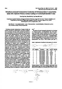 Palladium-catalyzed Carbonylative Cyclization of 2-Bromocyclohex-1 ...