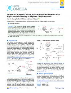 Palladium-Catalyzed Cascade Wacker/Allylation ... - ACS Publications