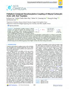 Palladium-Catalyzed Decarboxylative Coupling of ... - ACS Publications