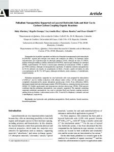 Palladium nanoparticles supported on layered hydroxide salts and