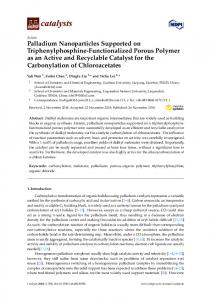 Palladium Nanoparticles Supported on Triphenylphosphine