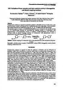 Palladium-Pincer complex and their catalytic activity ...