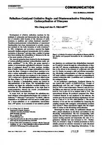 PalladiumCatalyzed Oxidative Regio and