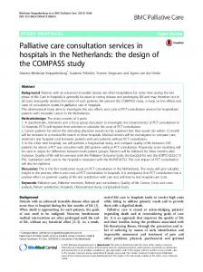Palliative care consultation services in hospitals in ... - BioMed Central