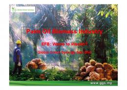 Palm Oil Biomass Industry