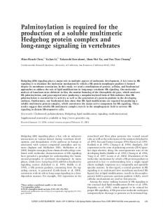 Palmitoylation is required for the production of a soluble multimeric ...