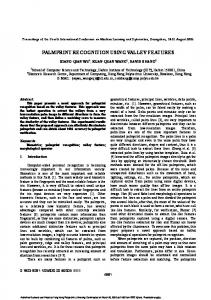 palmprint recognition using valley features