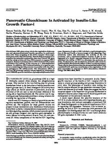 Pancreatic Glucokinase Is Activated by Insulin-Like Growth Factor-I