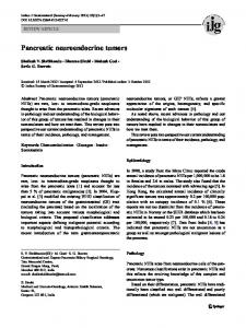 Pancreatic neuroendocrine tumors - Springer Link