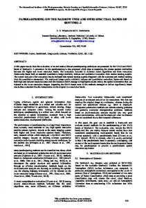 pansharpening on the narrow vnir and swir spectral ... - ISPRS Archives