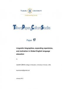 Paper 17 - Linguistic biographies, expanding ... - Tilburg University