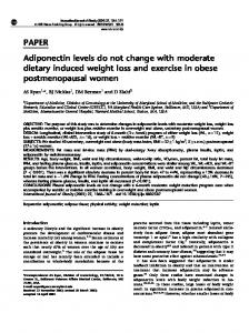 PAPER Adiponectin levels do not change with moderate ... - Nature
