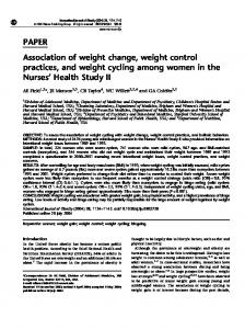 PAPER Association of weight change, weight control ... - Nature