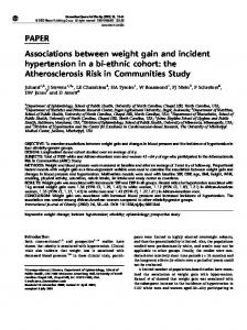 PAPER Associations between weight gain and incident ... - Nature