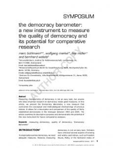 Paper - Democracy Barometer