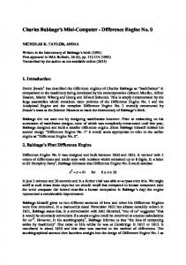 Paper IMAB 1992 Babbage - Mathematical and Computer Sciences