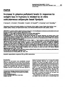 PAPER Increase in plasma pollutant levels in response to ... - Nature