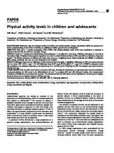 PAPER Physical activity levels in children and adolescents - Nature