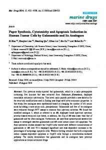 Paper Synthesis, Cytotoxicity and Apoptosis ... - Semantic Scholar
