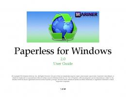 Paperless for Windows User Guide - Mariner Software