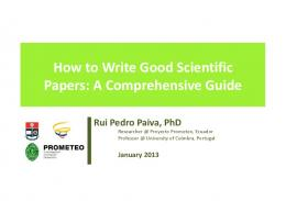 papers - how to write