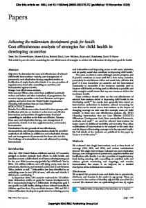 Papers - World Health Organization