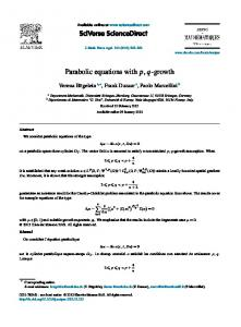 Parabolic equations with p,q-growth