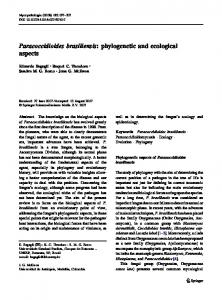 Paracoccidioides brasiliensis: phylogenetic and ... - Springer Link