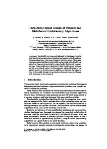 ParaDisEO-Based Design of Parallel and Distributed Evolutionary ...