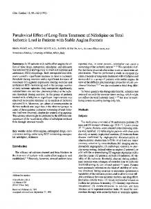 Paradoxical effect of long-term treatment of ... - Wiley Online Library