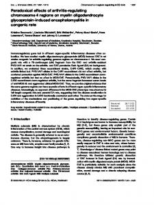 Paradoxical effects of arthritis-regulating ... - Wiley Online Library