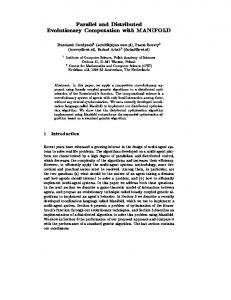 Parallel and Distributed Evolutionary Computation with ... - CiteSeerX