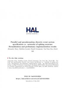 Parallel and pseudorandom discrete event system ...