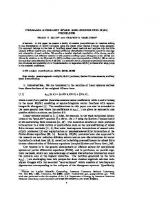 PARALLEL AUXILIARY SPACE AMG SOLVER ... - Semantic Scholar