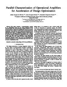 Parallel Characterization of Operational Amplifiers for ... - inf - ufrgs