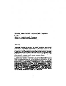 Parallel, Distributed Scripting with Python - CiteSeerX
