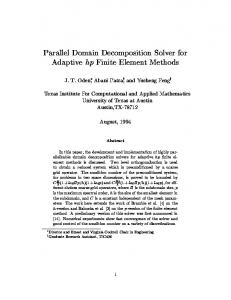 Parallel Domain Decomposition Solver for