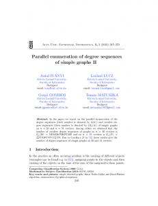 Parallel enumeration of degree sequences of simple graphs II