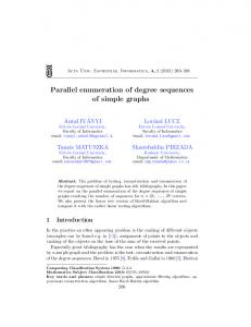 Parallel enumeration of degree sequences of simple graphs