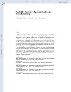 Parallel Evolutionary Algorithms for Energy Aware Scheduling