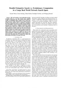 Parallel exhaustive search vs. evolutionary computation in large real ...