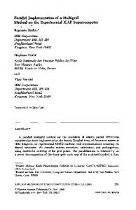 Parallel Implementation of a Method on the Experimental G-\ Multigrid ...