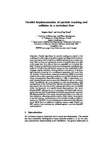 Parallel implementation of particle tracking and collision in a turbulent