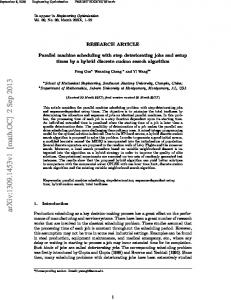 Parallel machine scheduling with step deteriorating jobs and setup ...